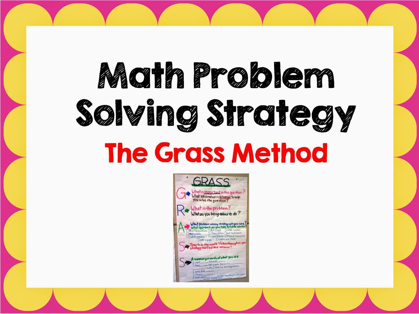 Math - The Grass Strategy | Math problem solving, Math and Students