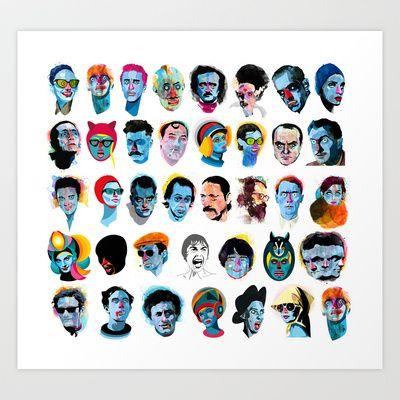 Heads Art Print by Alvaro Tapia Hidalgo - $19.00