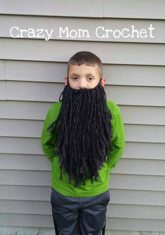 Black Child or Adult size Long beards! Fun detachable beards for ...