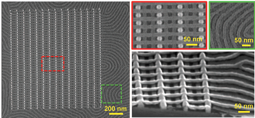 MIT researchers have found a new way of making complex three-dimensional structures using self-assembling polymer materials that form tiny wires and junctions. The work has the potential to usher in a new generation of microchips and other devices made up of submicroscopic features.