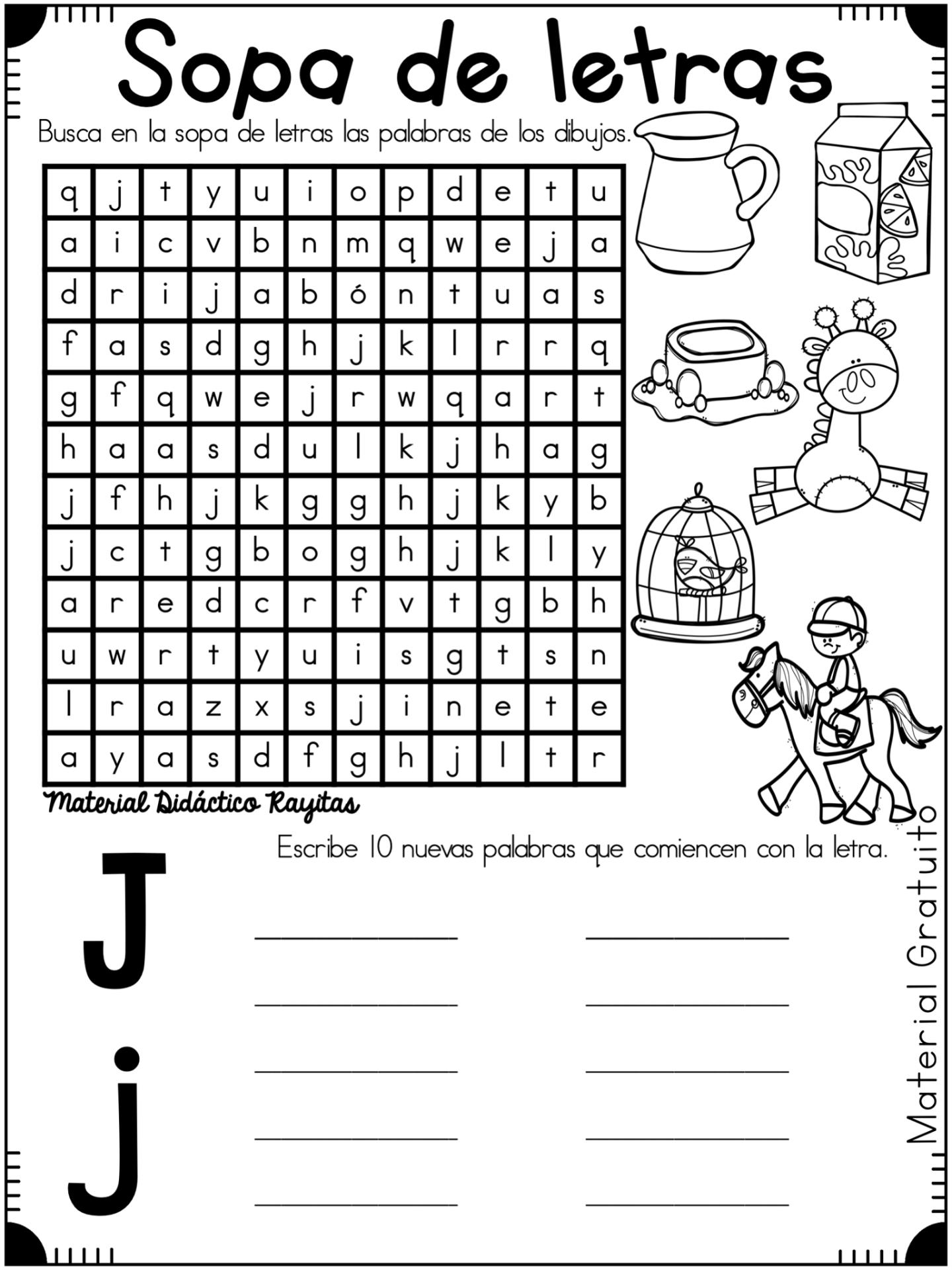 Abecedario Sopa De Letras 10 Actividades De Letras Cuaderno De Lectoescritura Letras Para Ninos