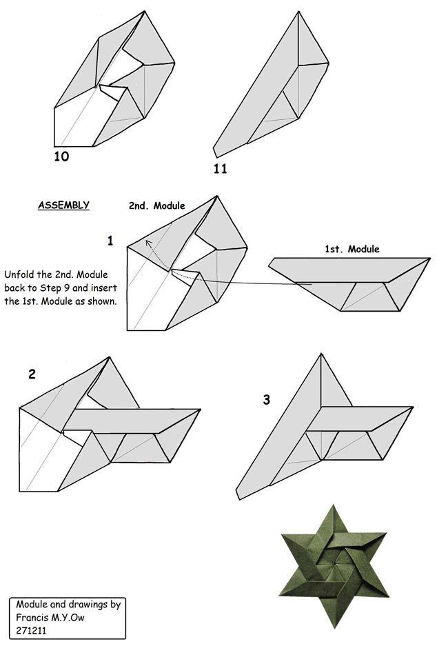 6 piece star of david origami pinterest origami origami rh pinterest com Origami Diagrams A to Z Origami Diagrams A to Z
