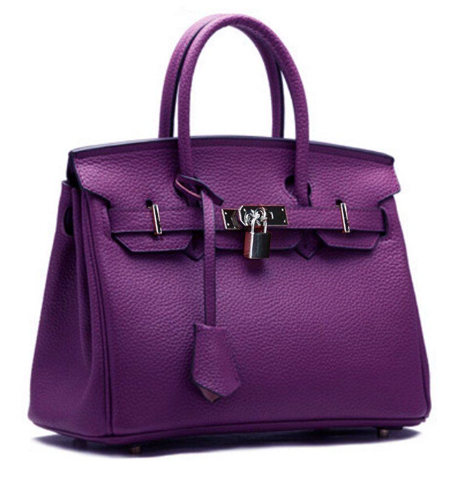0559869955f Ainifeel Women s Padlock Handbags with Silver Hardware (30cm