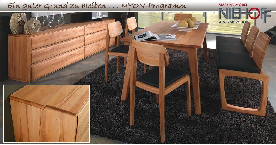 Massive Möbel für Ihr Wohnzimmer - Das Programm Nyon aus massiver - möbel wohnzimmer modern