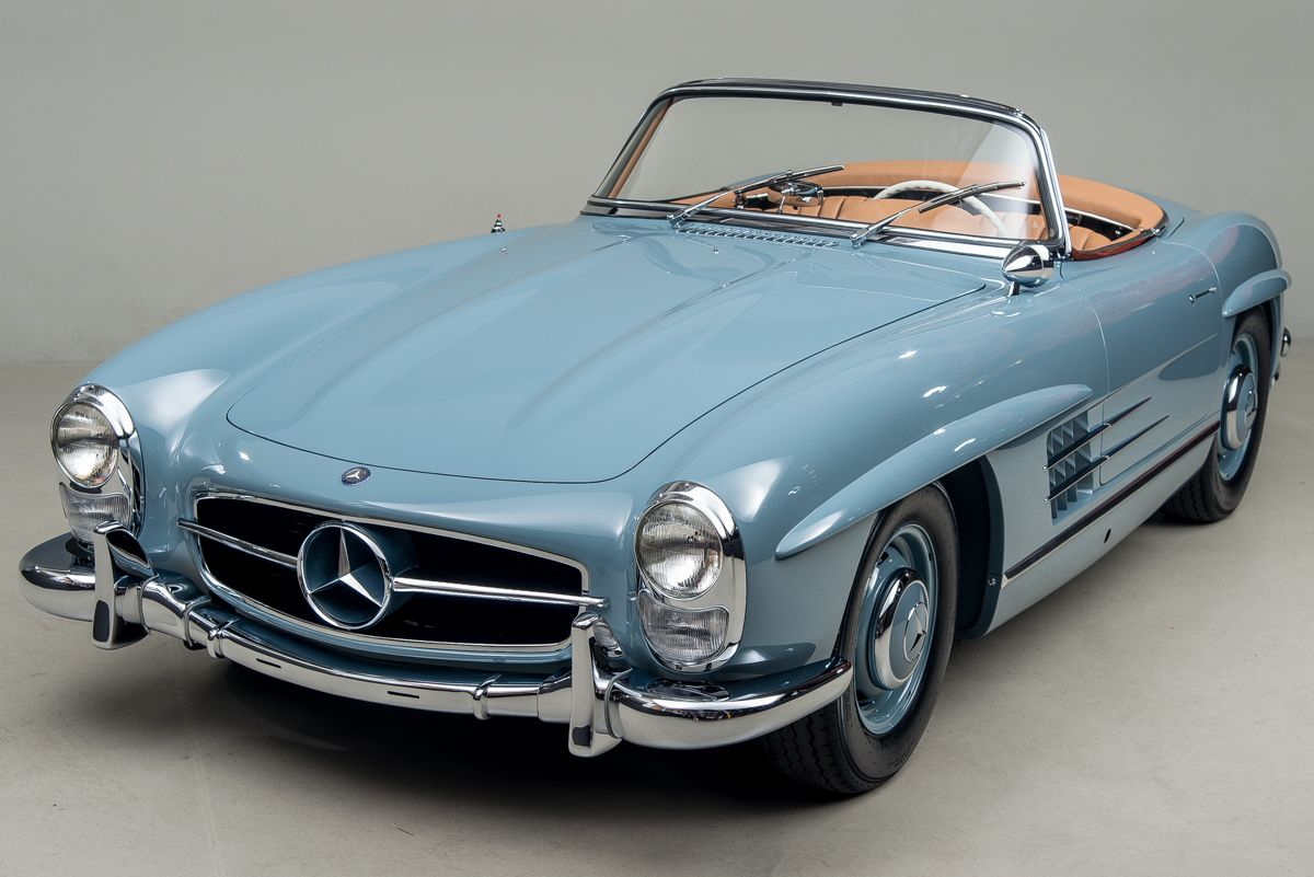 A perfect baby blue 1957 300sl old school pinterest for Baby mercedes benz