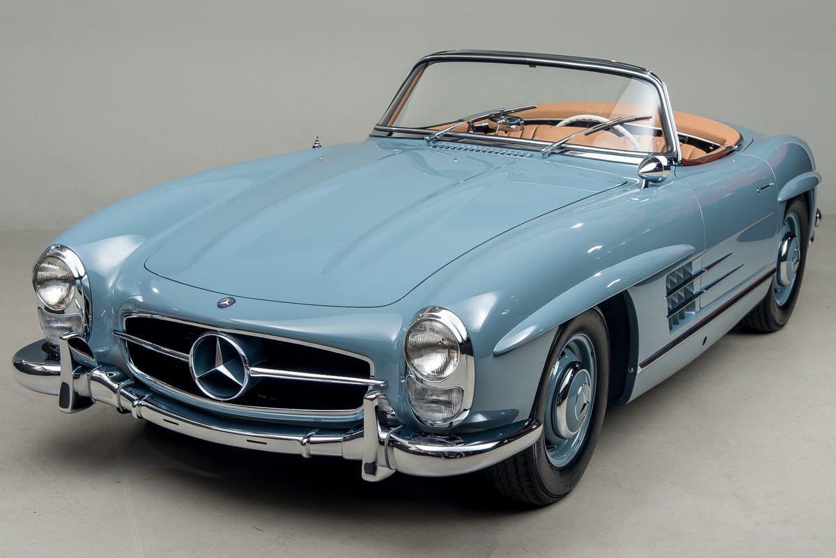 A perfect baby blue 1957 300SL. My dream car Mercedes