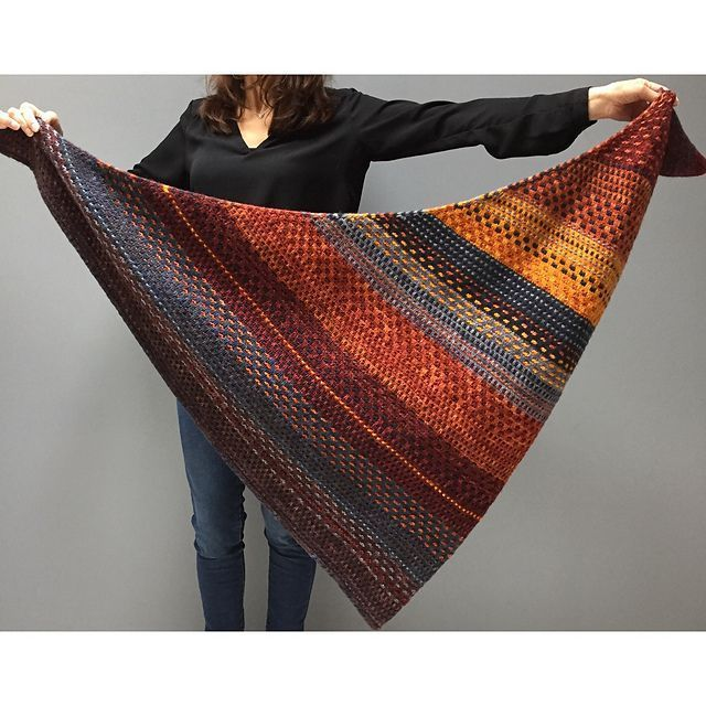 Photo of Night Shift by Andrea Mowry | Malabrigo worsted from blue graphite, burgundy, …
