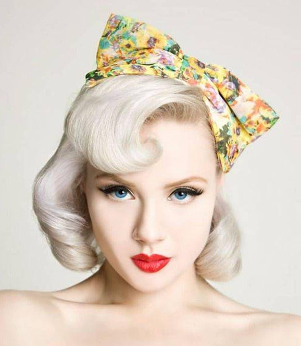 Short Blonde Pin Up Girl Hairstyles cakepins