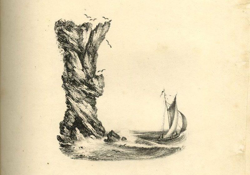 Wonderful Landscape Alphabet Art From 19th Century