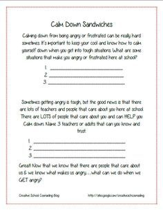 Printables Free Anger Management Worksheets 1000 images about reframe anger coping skills on pinterest management activities and negative self talk