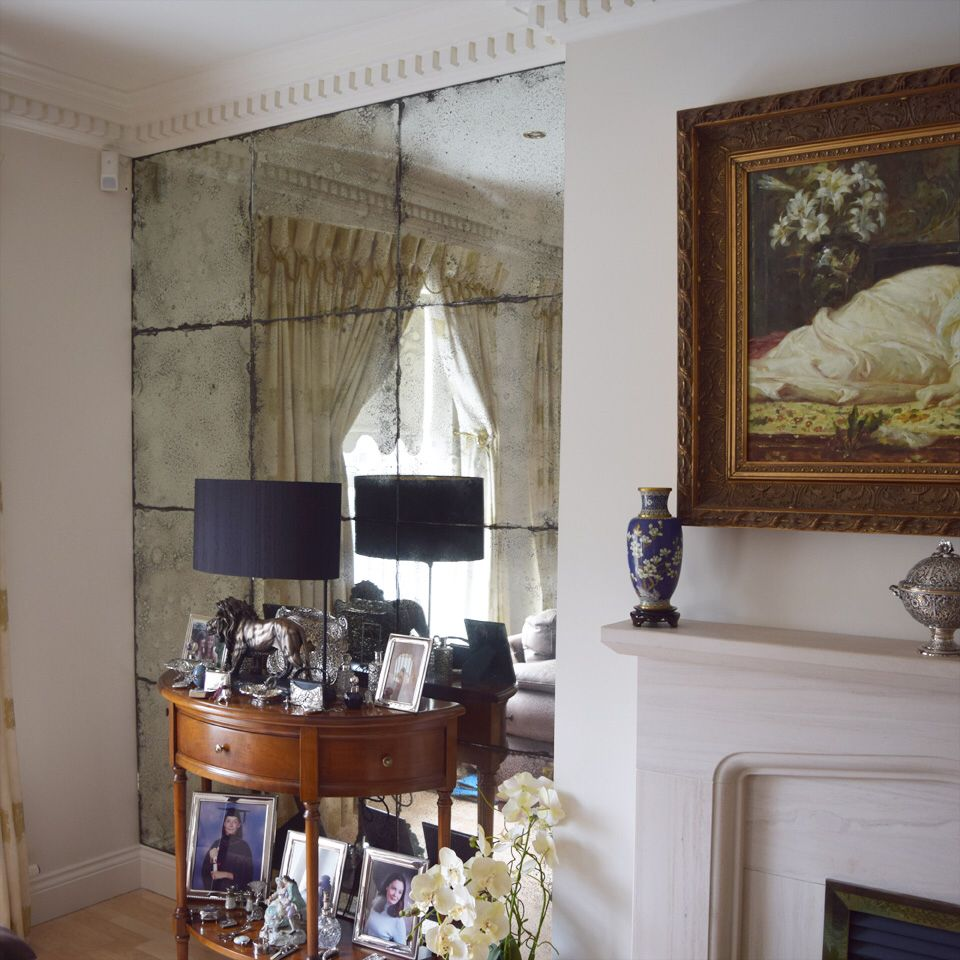 Vintage antiqued mirror glass alcoves..perfect finish. | Mirror ...