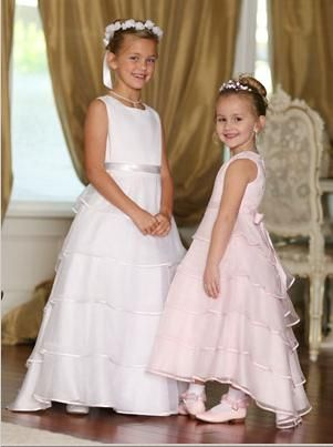 7dc67670e00 Tip Top Flower Girl Dress with Train 5290 - French Novelty