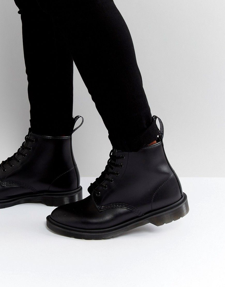 low priced 4529f 14c90 Dr Martens 101 BR 6 Eye Triple Black Boots - Black