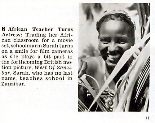 "Zanzibar Teacher ""Sarah"" Becomes An Actress - Jet Magazine…   Flickr"