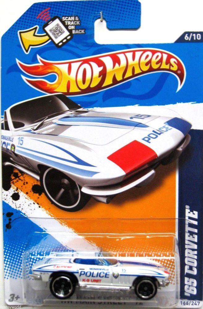 1965 chevy corvette hot wheels 2012 main street 610 monroeville police k - Hot Wheels Cars 2012