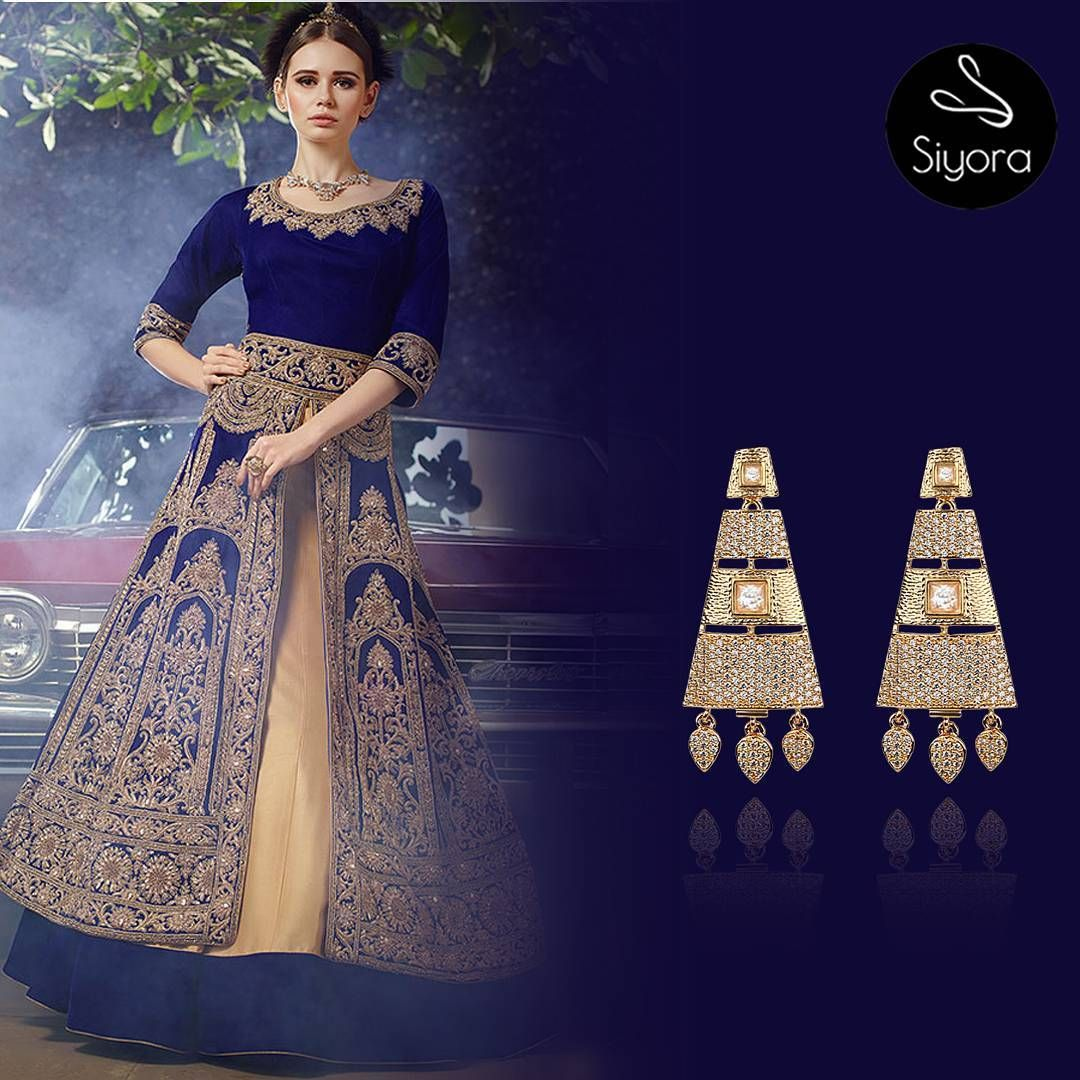 Enchanting earrings just for you. Grab it before it goes. Order on WhatsApp +91-9769714221