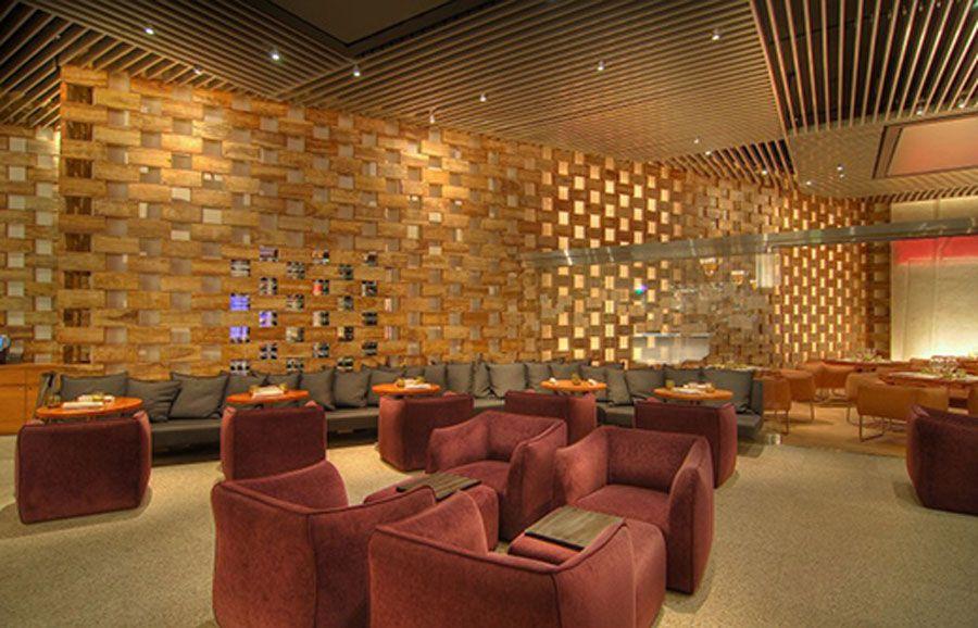 Bamboo Asian Bathroom Architecture Design Restaurant Interior