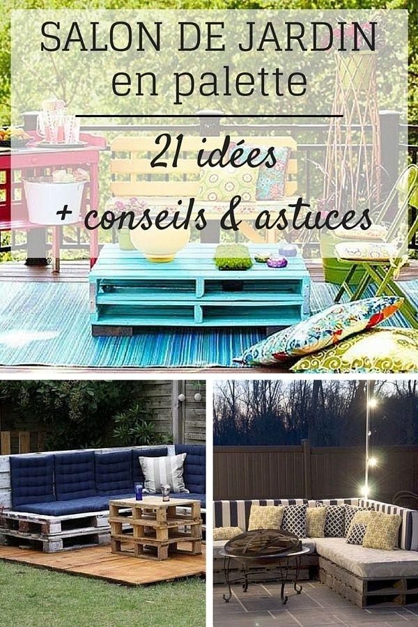 salon de jardin en palette 21 id es d couvrir astuces conseils palette pinterest. Black Bedroom Furniture Sets. Home Design Ideas
