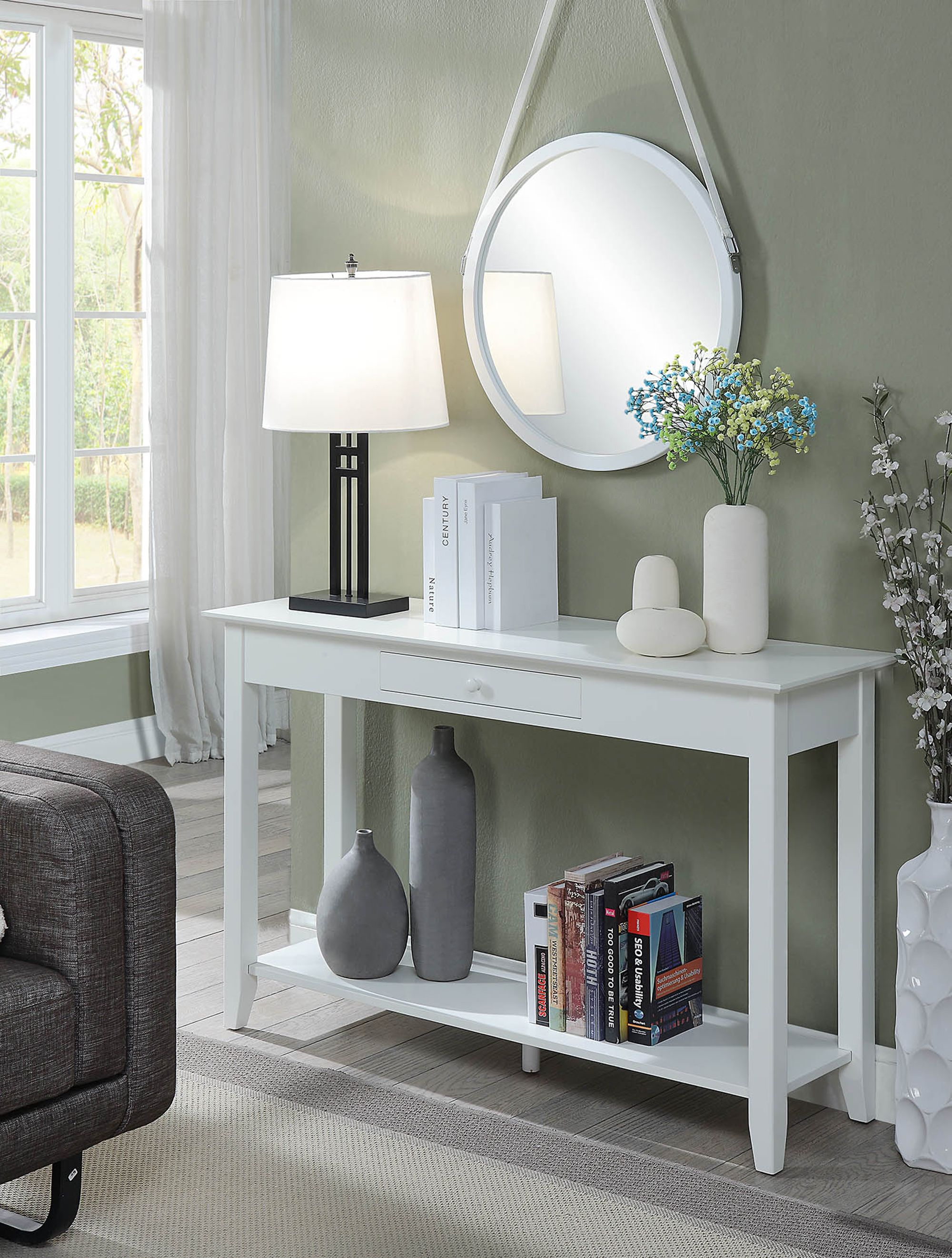 Pin By Goedekers Com On Decorar Entrada Casa In 2020 White Console Table White Furniture Living Room Console Table Decorating