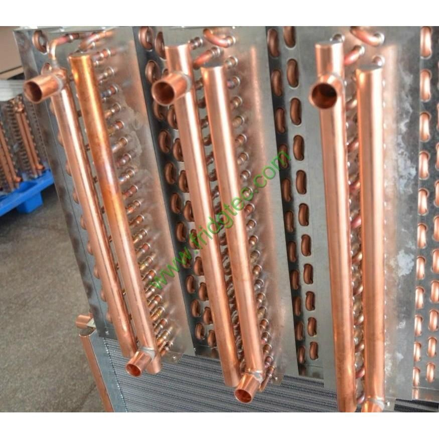 good quality hot water copper tube fin condenser coil made