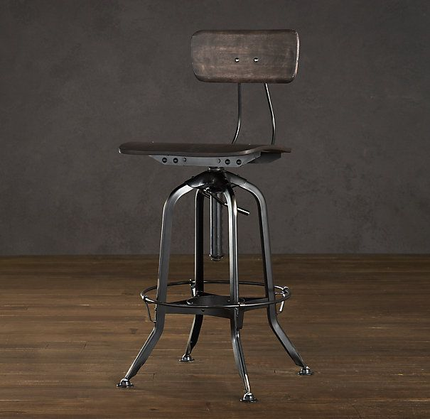 Restoration Hardware Vintage Toledo Chair Distressed Black