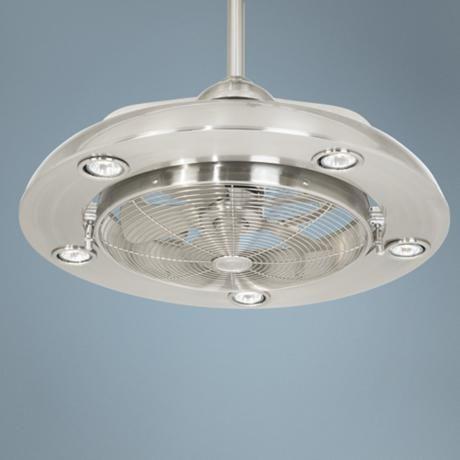 Possini euro segue 24 w brushed nickel 5 light ceiling fan n4214 lamps plus