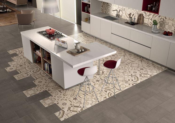 pavimenti moderni - Cerca con Google | Piastrelle cucina ...