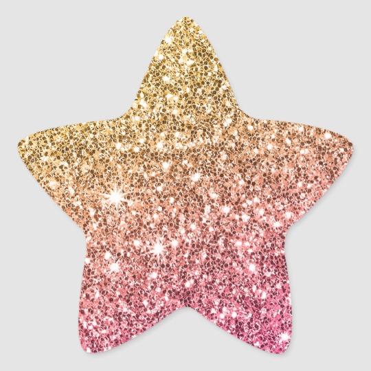 Glam Bat Mitzvah Modern Luxe Pink Gold Glitter Classic Round Sticker Zazzle Com Pink And Gold Birthday Wishes Flowers Round Stickers