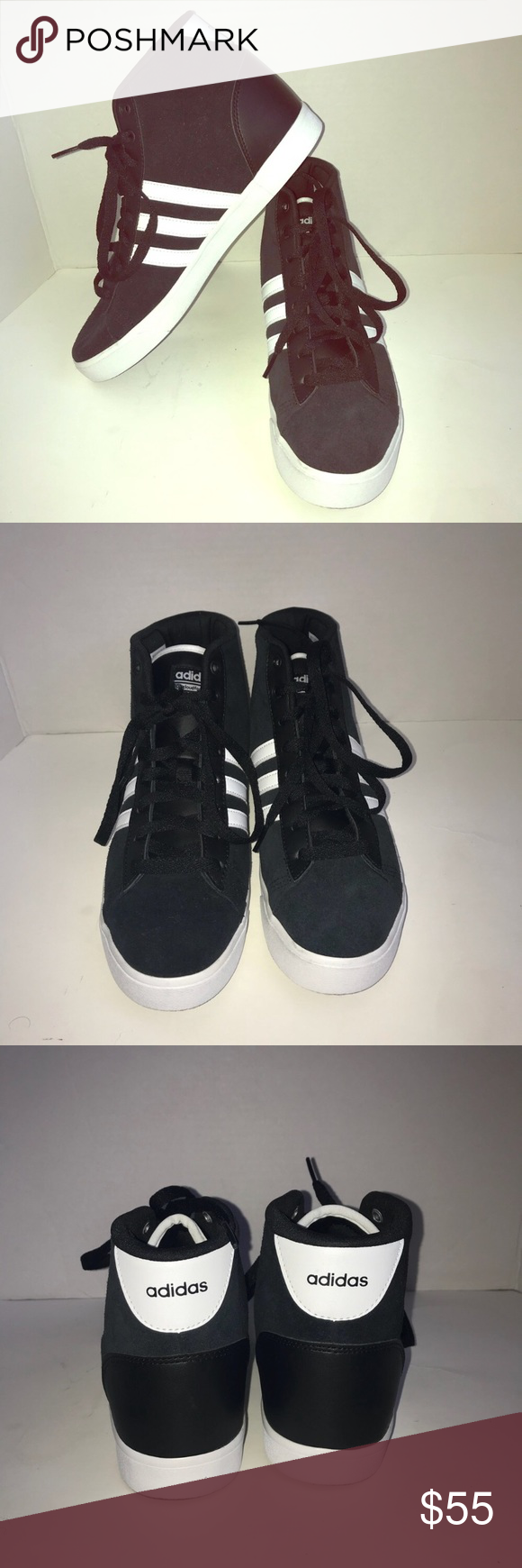 1559aedb0936d0 Adidas Neo high top sneakers  NWOT Adidas Neo cloud form black   white high
