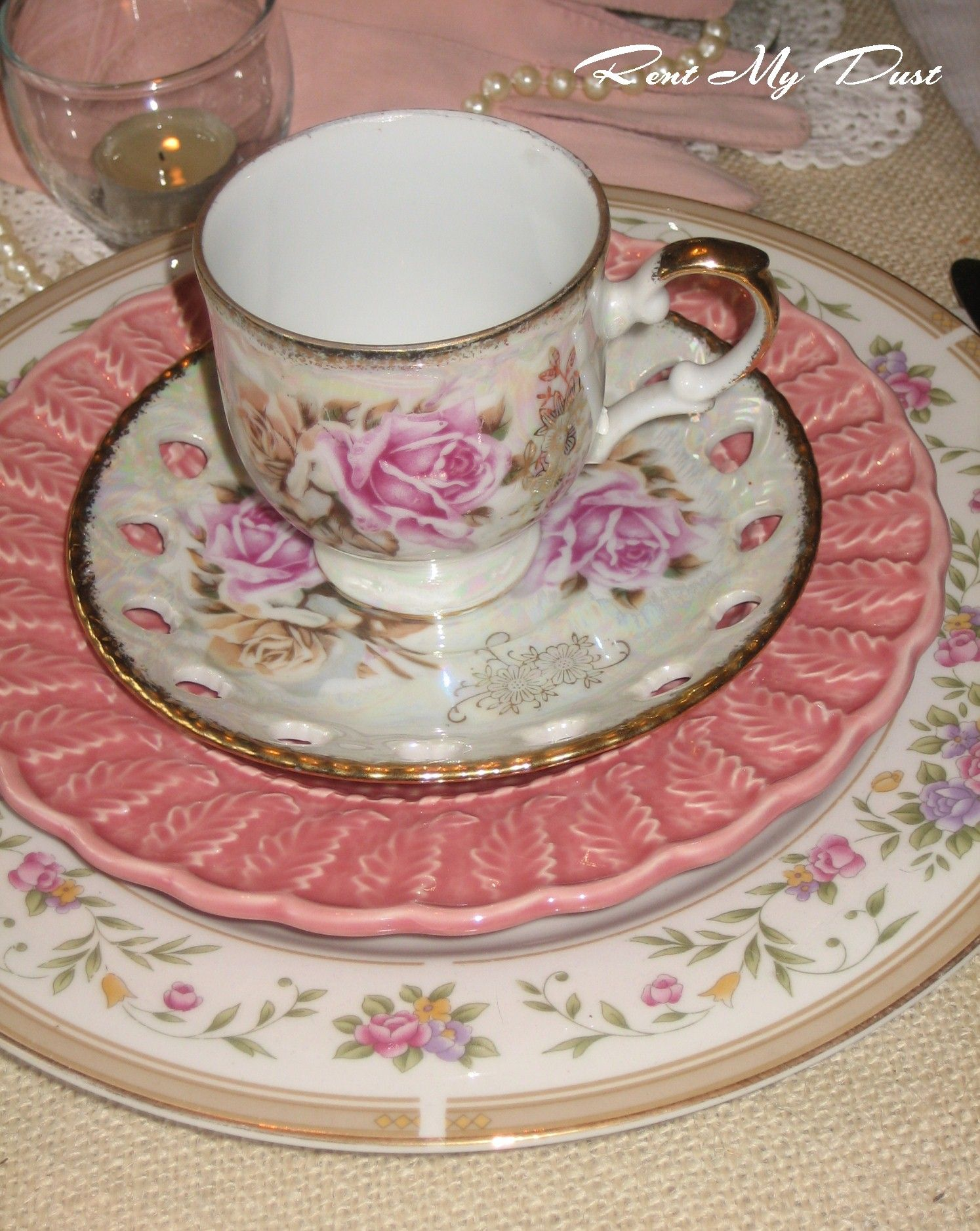Love The Pinks With A Pottery Piece Mismatched Pinks