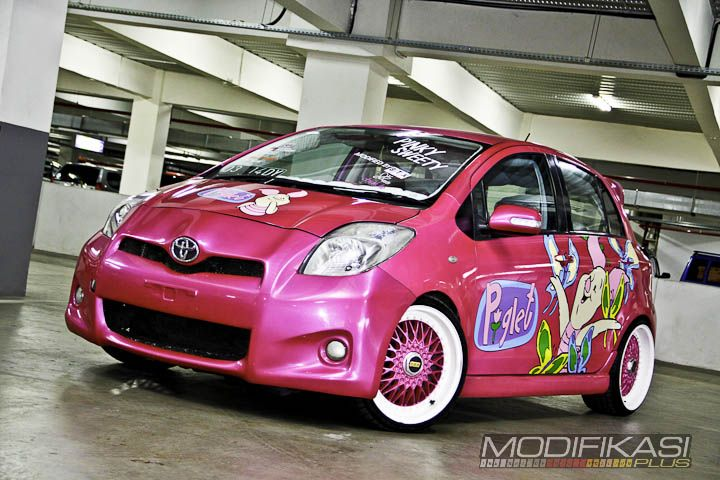 Toyota Yaris Trd Modif All New Camry 2018 Philippines Modified Cars Modifikasi Pinky Piglet