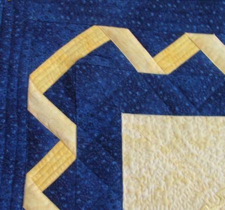 Ribbon border on Bethlehem Star Wall Quilt from Advanced ... : pieced quilt border ideas - Adamdwight.com