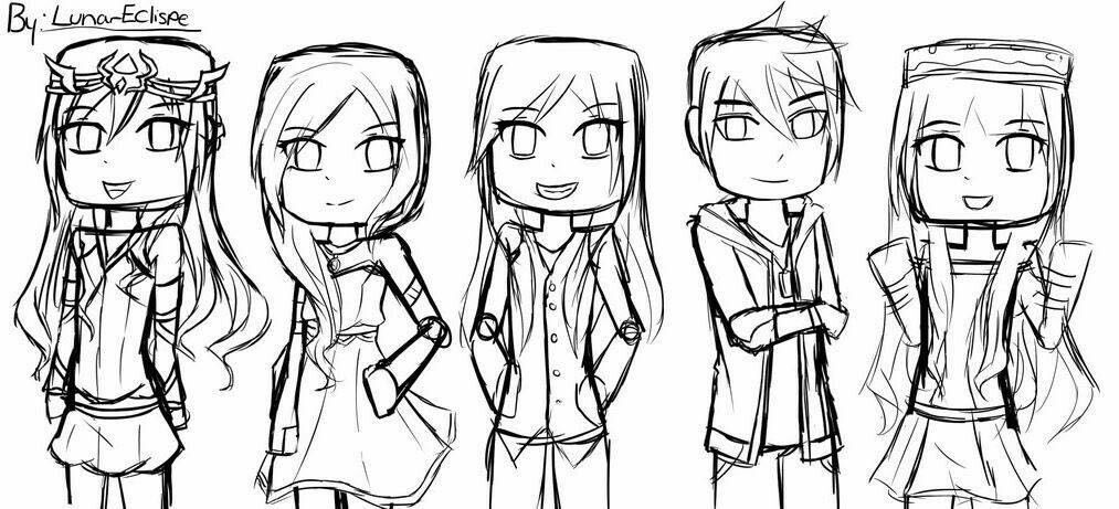 itsfunneh coloring pages The Krew | The crew (funneh, gold, lunar,draco,and rainbow  itsfunneh coloring pages