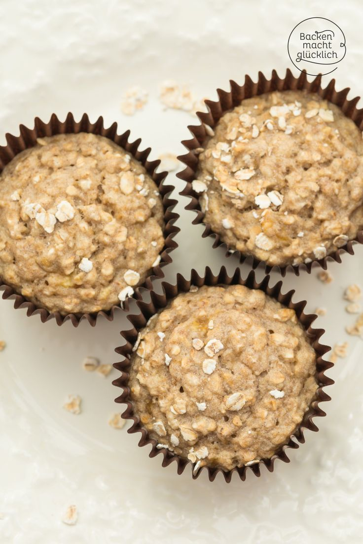 Bananen-Haferflocken-Muffins ohne Zucker   Backen macht glücklich