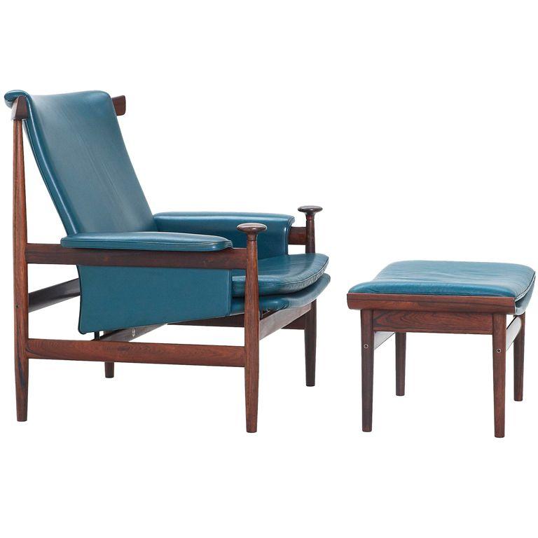 bwana chair and ottoman by finn juhl france and sons denmark