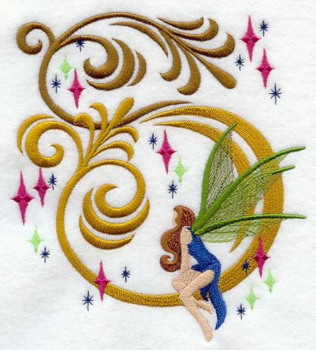 "Fairy Fantasy Product ID: C9911 Size: 5.85""(w) x 6.54""(h) (148.6 x 166 mm) Color Changes: 15 Stitches: 28165 Colors Used: 12"