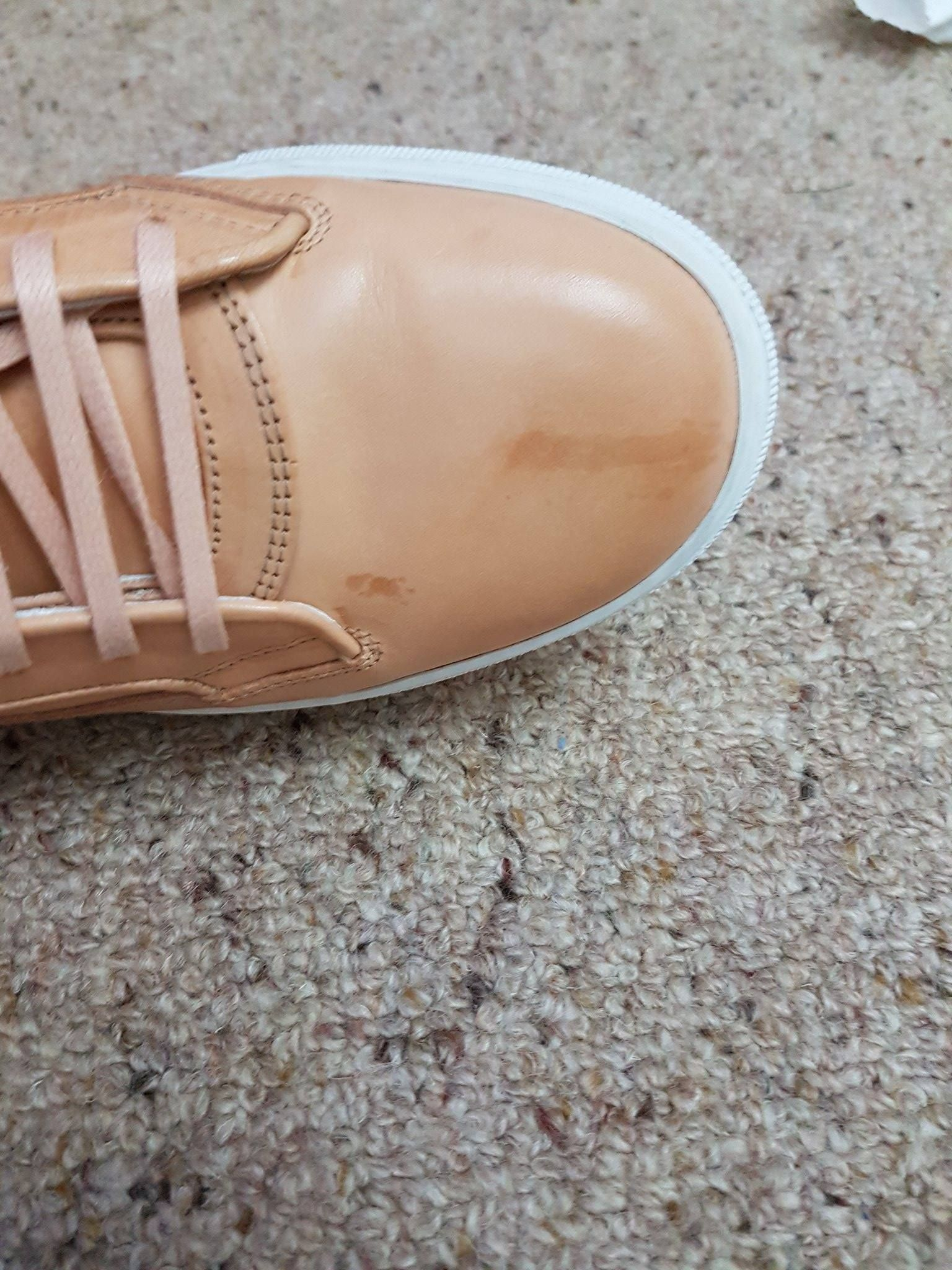 How To Remove Water Stain From Tan Leather Shoes Piel Color Café Claro Zapatos