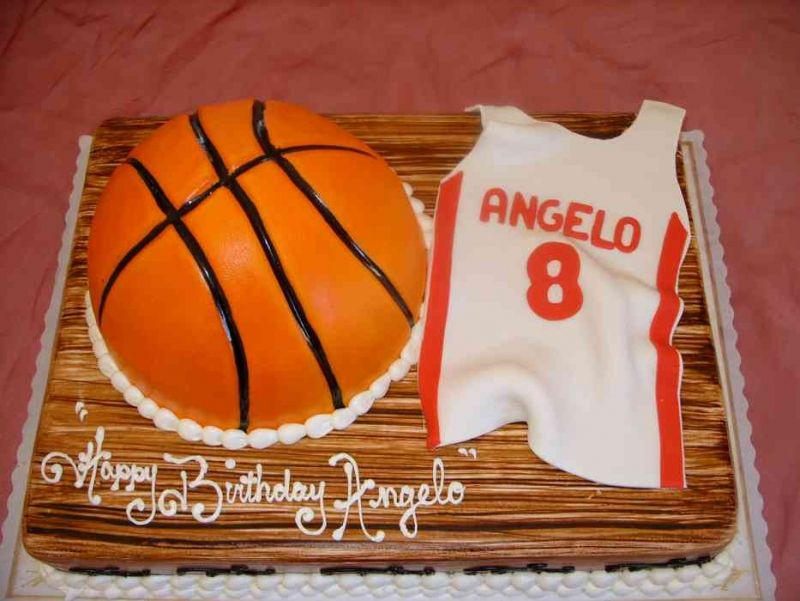 Fabulous Basketball Themed Birthday Cakes Basketball Theme Cakes Pictures Funny Birthday Cards Online Benoljebrpdamsfinfo