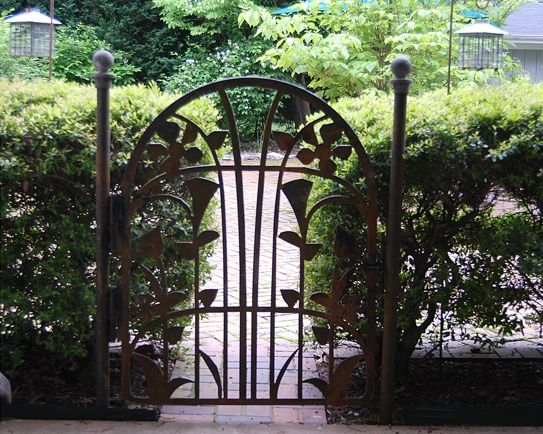 Delightful Decorative Metal Garden Gate...by Alabama Metal Art