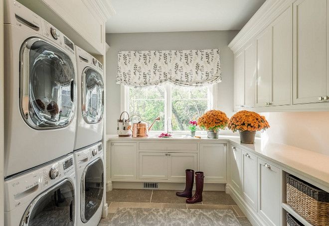 double stack washer and dryer. Laundry Room, Room With Double Stacked Washer And Dryer. Dryer Limestone Floor Tiles Stack