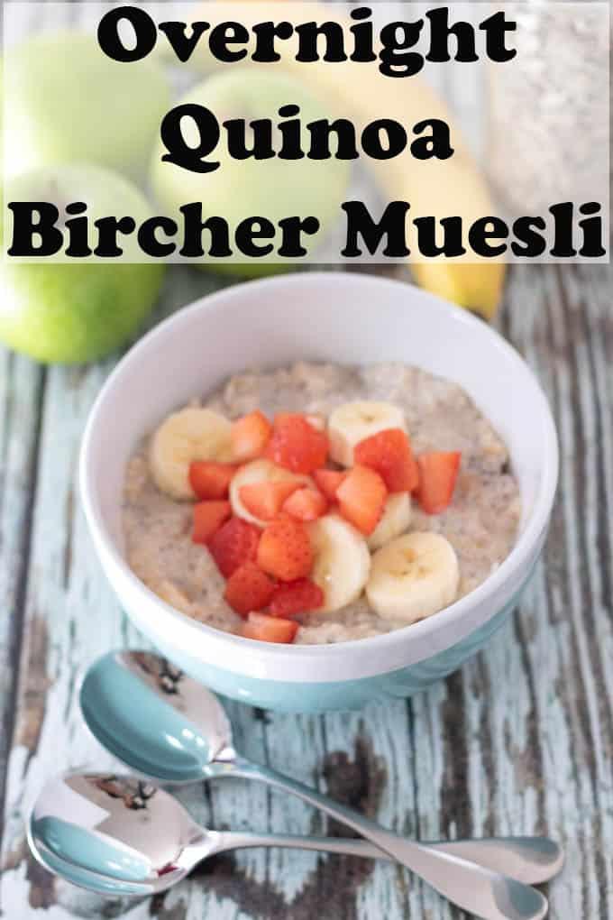 Quinoa Bircher Muesli with Apple and Banana | Recipe ...