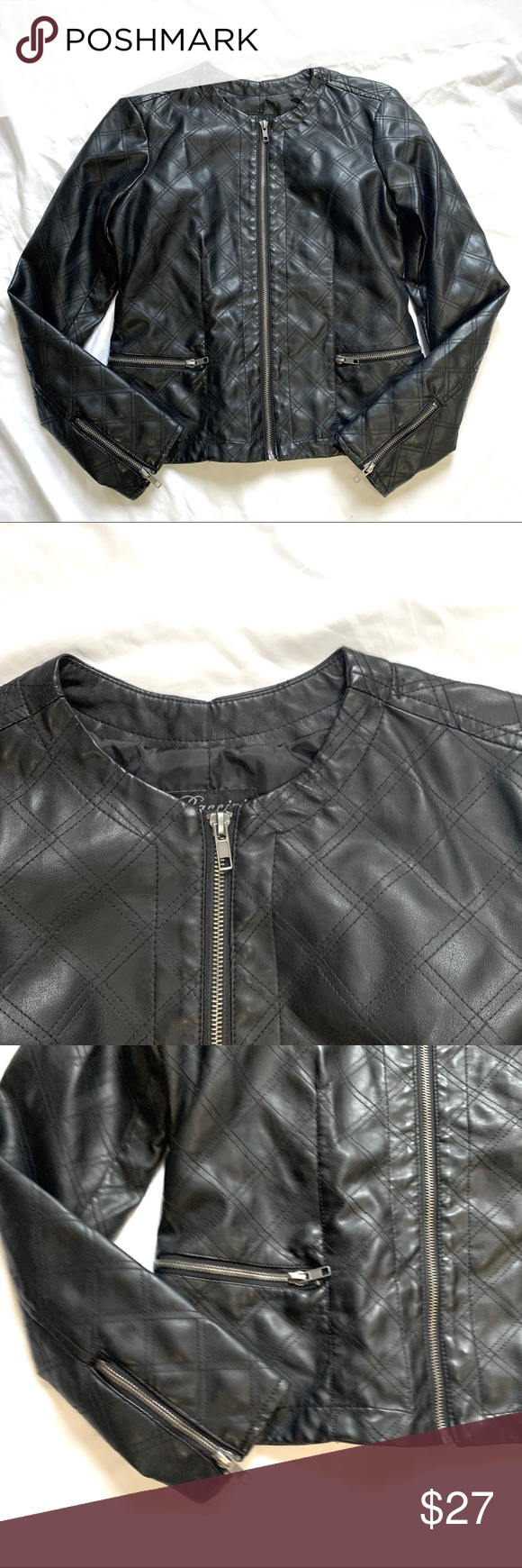 Baccini Petite Small Black Polyu Jacket Excellent Baccini Brand Size Petite Small Excellent Condition Quilted Pattern Ja Fashion Fashion Trends Clothes Design [ 1740 x 580 Pixel ]