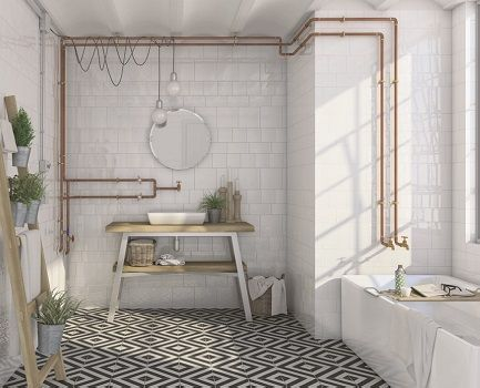 etnia bathroom wall tile | subway tiles bathroom, rustic