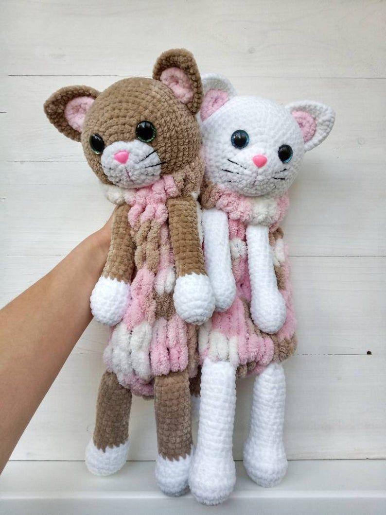 Crochet Cat Pattern Pajamas Holder Baby Comforter