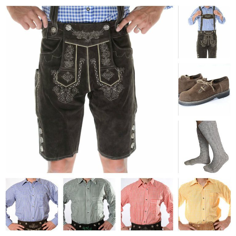 Lederhosen 163144: German Bavarian Oktoberfest Trachten Package Set: Lederhosen Shirt Shoes Socks B -> BUY IT NOW ONLY: $128.69 on eBay!