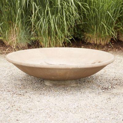 Cast Stone Shallow Bowl Planter Outdoor Garden Planters Large Plant Pots Stone Planters