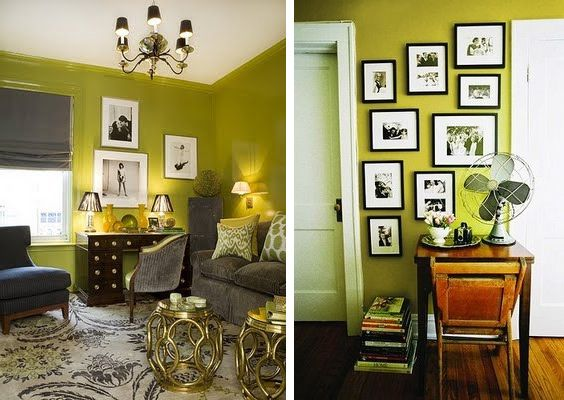 green and gray home decor | Home decor | Pinterest | Green walls ...