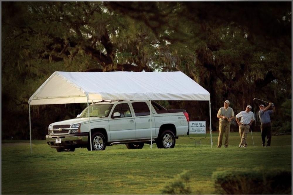 10' x 20' CarPort Canopy Portable Steel Frame Gazebo