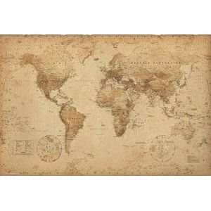 Large vintage wall map matches my little apartment want for the world map vintage style art poster print poster print collections poster print gumiabroncs Images