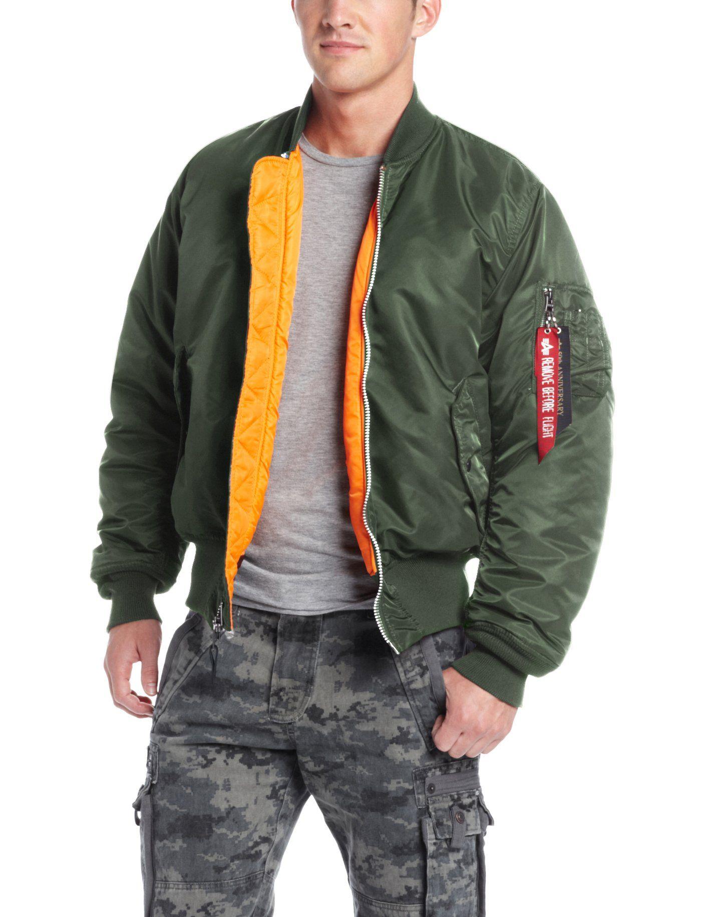 Amazon.com: Alpha Industries Men's MA-1 Bomber Flight Jacket: Clothing